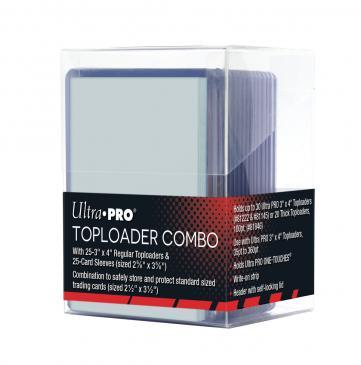 Deck Box: Toploader Combo (25 Toploaders + 25 Sleeves)