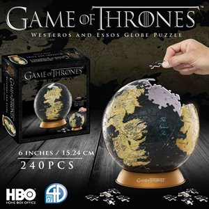 "3D Puzzle: Game of Thrones: Globe (6"") (240 Pieces)"