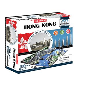 4D Cityscape: Hong Kong, China (1186 Pieces)