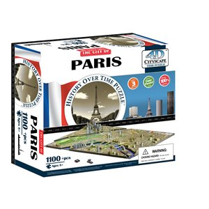 4D Cityscape: Paris, France (1174 Pieces)