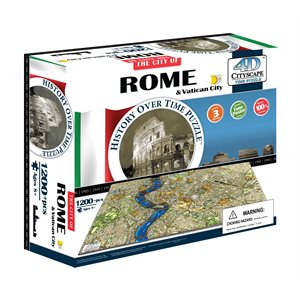 4D Cityscape: Rome, Italy (1241 Pieces)