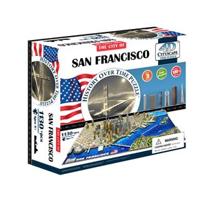 4D Cityscape: San Francisco, USA (1094 Pieces)