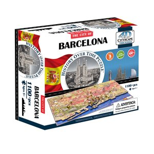4D Cityscape: Barcelona, Spain (1243 Pieces)