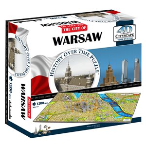 4D Cityscape: Warsaw, Poland (1257 Pieces)