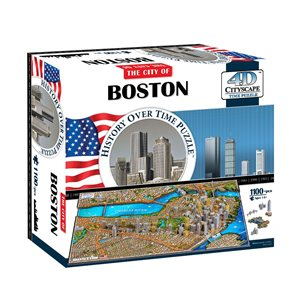 4D Cityscape: Boston, USA (1189 Pieces)