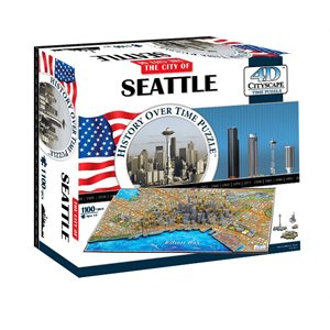 4D Cityscape: Seattle (1168 Pieces)