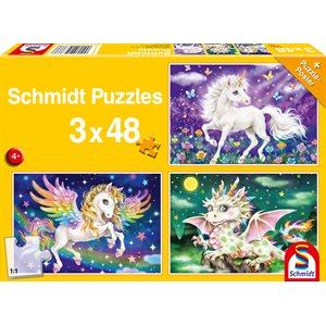 Puzzle: Mythical creatures (3x48 pcs) ^ Q2 2021