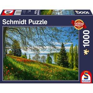 Puzzle: 1000: Tulips Flowering, Frühlingsallee, Mainau Island ^ Q2 2021