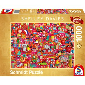 Puzzle: 1000: Shelley Davies: Vintage Toys ^ Q2 2021
