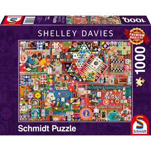 Puzzle: 1000: Shelley Davies: Vintage Board Games ^ Q2 2021