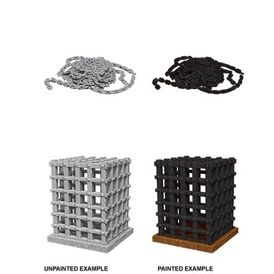 WizKids Deep Cuts Unpainted Miniatures Terrain: Wave 6: Cage & Chains