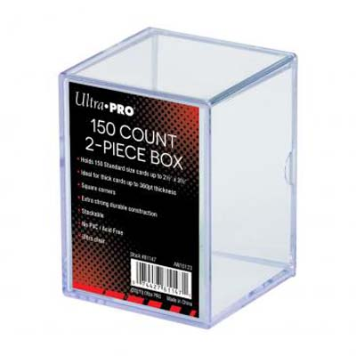 Ultra Pro: 2 Piece Clear Card Storage Box (150ct)