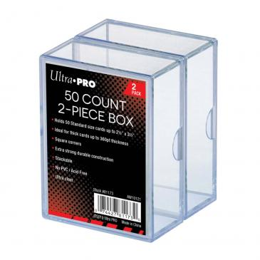 Ultra Pro: 2 Piece Clear Card Storage Box (50ct 2 Pack)