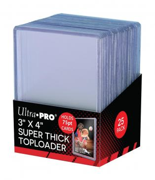 Sleeves: 3 X 4 Thick 75PT Toploader (25ct)