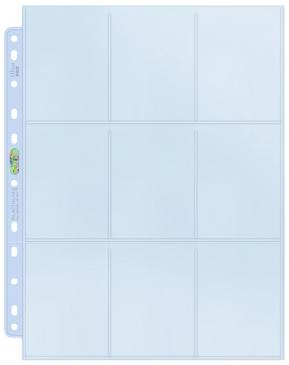 Pages: Toploading 9-Pocket Silver Series for Standard Size Cards (11-Holes) (100)