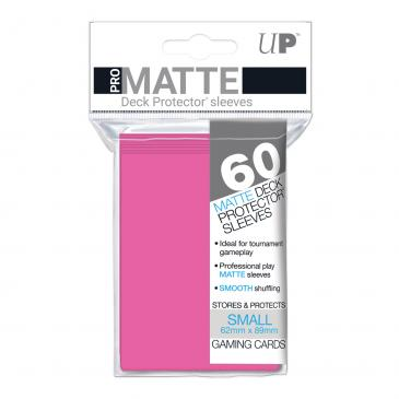 Sleeves: Pro-Matte Bright Pink Small Deck Protectors (60ct)