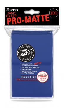 Sleeves: Pro-Matte Blue Standard Deck Protectors (100ct)