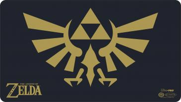 Playmat: The Legend of Zelda: Black & Gold Hyrule Crest with Tube