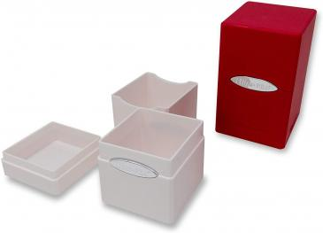Deck Box: Satin Tower 2 Pack: White, Red (100ct)