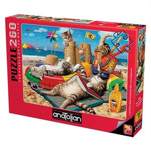 Puzzle: 260 Cats on the Beach