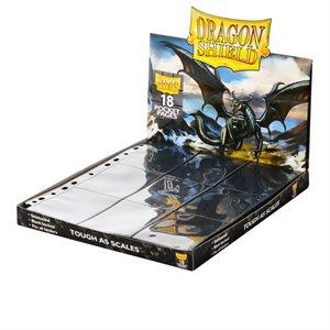 Pages: Dragon Shield 18 Pocket Side Loader Clear Black Backed (50)