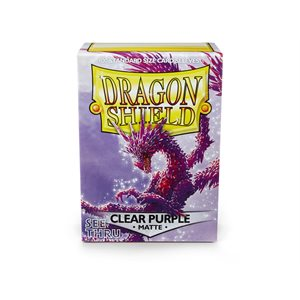 Sleeves: Dragon Shield Matte Clear Purple(100)
