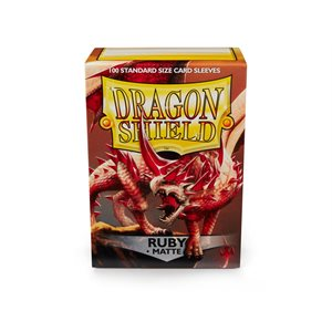 Sleeves: Dragon Shield Matte Ruby (100)