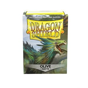 Sleeves: Dragon Shield Matte Olive (100) ^ AUG 7, 2020