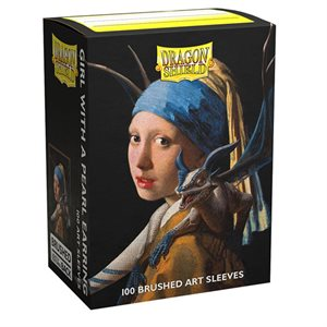 Sleeves: Dragon Shield Limited Edition Brushed Art: Girl with a Pearl Earring (100) ^ NOV 5 2021