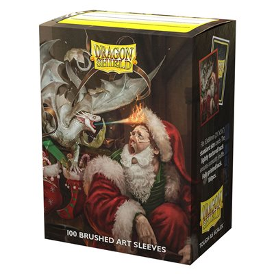 Sleeves: Dragon Shield Limited Edition Brushed Art: Christmas Dragon 2021 (100) ^ OCT 22 2021