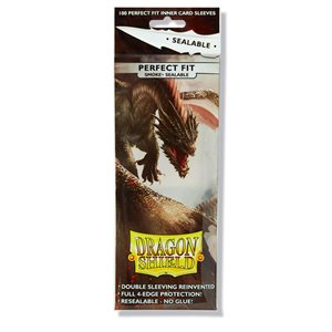 Sleeves: Dragon Shield Perfect Fit Sealable Smoke (100)