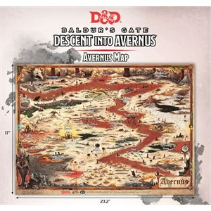Dungeons & Dragons: Baldurs Gate: Descent Into Avernus - Avernus Map (23 x 15 in)