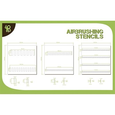Airbrush Stencils Sloping Stripes 1