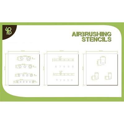 Airbrush Stencils Stars Numbers & Skulls