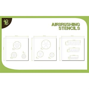 Airbrush Stencils Symbols: Chemical