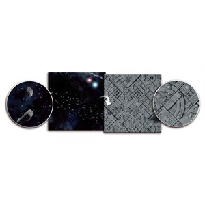 Playmat: Asteroid Field / Space Station 3' x 3' (Doubled Sided)