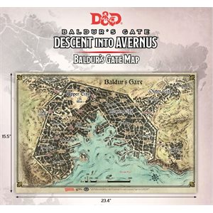 Dungeons & Dragons: Baldurs Gate: Descent Into Avernus - Baldurs Gate Map (23 x 17 in)
