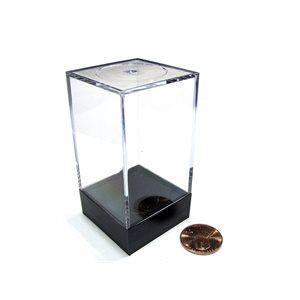 Plastic Figure Display Box: Medium Tall Black Lid