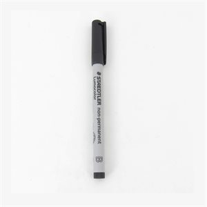 Marker: Black Broad Tip Soluble