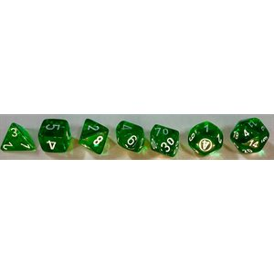 Translucent: 7pc Green / White