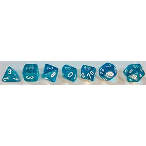 Translucent: 7pc Teal / White
