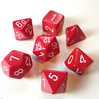 Opaque: 7Pc Red / White