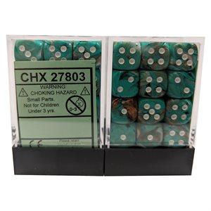 Marble: Oxi-Copper™ / White Dice Block™ 36D6