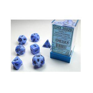Lab Dice Vortex: 7pc Limited Edition Snow Blue / Black