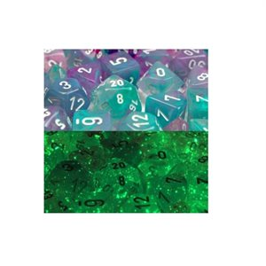 Lab Dice Nebula: 7pc Limited Edition Wisteria / White