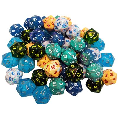 Dice Menagerie 10 D20 Bag Of 50