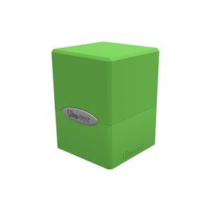 Deck Box: Lime Green Satin Cube (100ct)