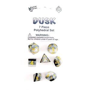 Transparent: 7 Pc Polyhedral Dusk