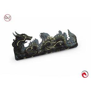 E-Raptor Card Holder L Dragon Fullprint Grey