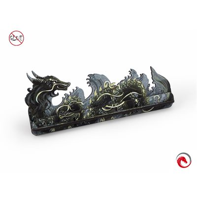 E-Raptor Card Holder S Dragon Fullprint Grey